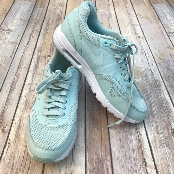 Mens Womens Winter Sneakers Nike Air Max 1 Light grey mint green white NIKE NSZ009987
